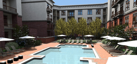 Rendering of the Completed Court Yard, Marble Alley, Knoxville, July 2015