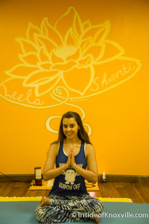 Owner Leslie Ann Ellingburg, Downtown Yoga, 1400 N. 6th Avenue, Knoxville, July 2015