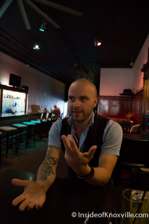 Aaron Thompson, Sapphire Modern Bar and Restaurant, 428 S. Gay, Knoxville, September 2015