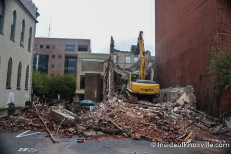 Demolition of 710 and 712 Walnut, Knoxville, September 2013