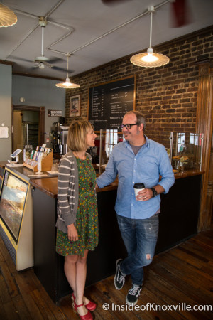 Meg and Shaun Parrish, Old City Java, Knoxville, September 2015