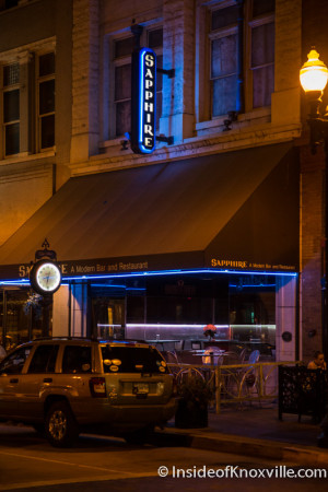 Sapphire Modern Bar and Restaurant, 428 S. Gay, Knoxville, September 2015