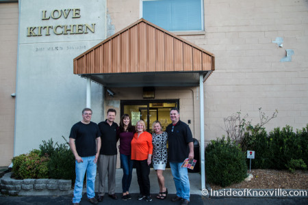 Sherry Fetzer and Jimmy Buckner with the Board of Directors of the Love Kitchen, Knoxville, September 2015