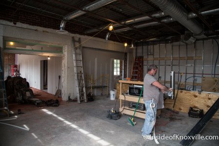 Wild Love Bakehouse Under Construction, 1625 North Central Street, Knoxville, September 2015
