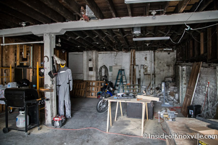Downstairs at 919, 921 and 923 Central Street Before Renovation, Knoxville, July 2014