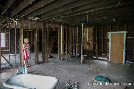 Upstairs, 919, 921 and 923 Central Street Before Renovation, Knoxville, July 2014