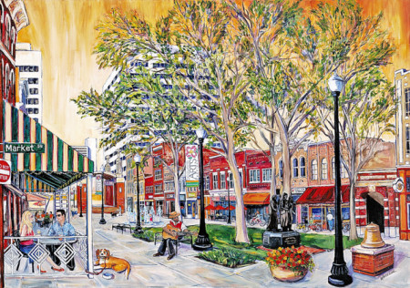 Maryville artist Heather Whiteside created the Dogwood Arts Festival's 50th anniversary print.