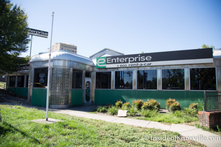 Enterprise Car Rental, Summit Hill and Central, Knoxville, October 2015