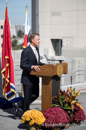 Governor Haslam, Knoxville, October 2015