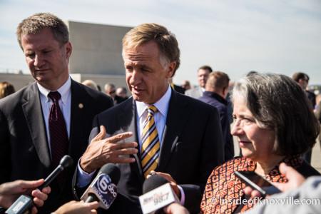 Mayor Burchett, Governor Haslam, Mayor  Rogero, Knoxville, October 2015
