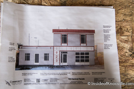 Plans for 919, 921 and 923 Central St., Knoxville, July 2014