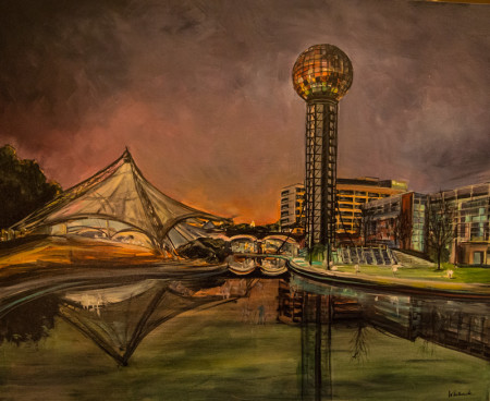 """World's Fair Park,"" Original Acrylic on Canvas, 24X30, $2800"