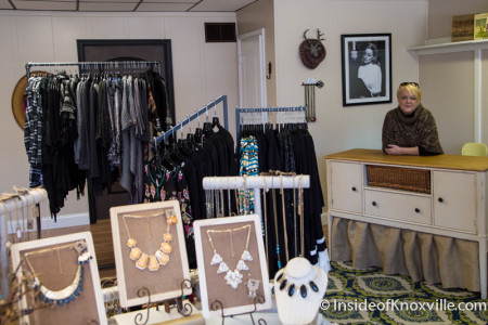 Becky Walker, Folly Boutique, 1211 N. Central Street, Knoxville, November 2015