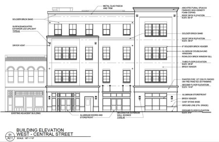 Front of Proposed Building Facing Central at 120 and 122 South Central