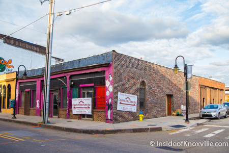 Buildings set for demolition - 120 through 122 Central Street, Knoxville, November 2015