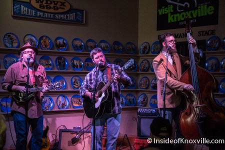 Jay Clark with Greg Horne and Daniel Kimbro, Blue Plate Special, Knoxville, November 2015