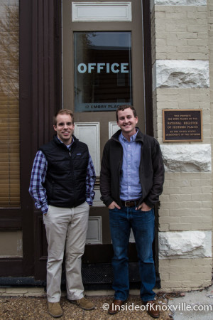 Joe Carufe and Zach Cochran, Two Roads Company, 17 Emory Place, Knoxville, November 2015
