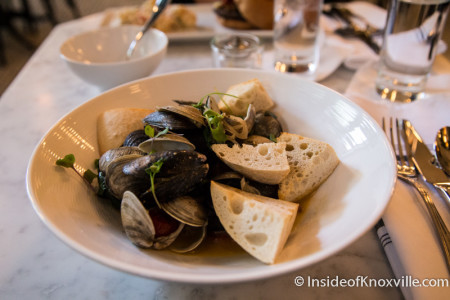 Mussels and Clams, Oliver Royale, 5 Market Square, Knoxville, November 2015