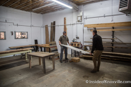 Andrew Edens and Joey Bridges, Smoky Mountain Vintage Lumber, 1700 N. Central St., Knoxville, December 2015