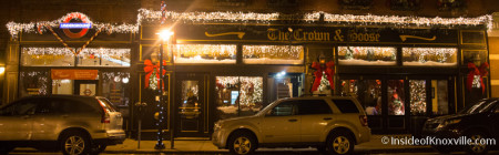 Crown and Goose, 123 S. Central St, Knoxville, December 2015