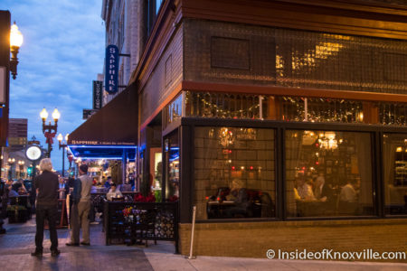 Gay Street, Five Bar in Foreground, Knoxville, December 2015