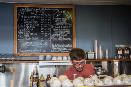Head Barrista, Drew Wood, Market House Cafe, 36 Market Square, Knoxville, December 2015