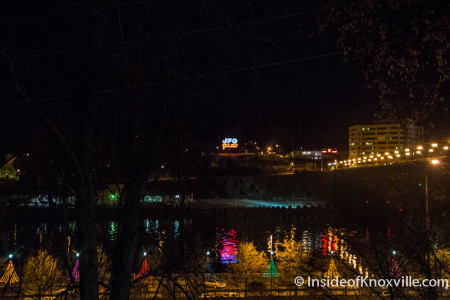 Christmas Trees Reflected in the Tennessee River, Knoxville, December 2015