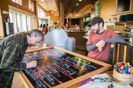 Scott West and Matt Boldreghini, Market House Cafe, Knoxville, December 2015