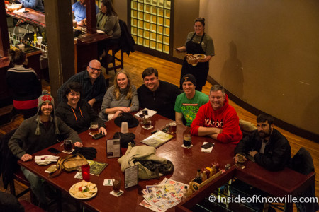 Downtown Grill with Friends on a Snowy Day, Knoxville, January 2016