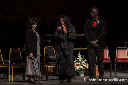 Liza Zenni wins the 2016 Arts Award, A Night with the Arts in Celebration of Dr. Martin Luther King, Jr, Tennessee Theatre, Knoxville, January 2016