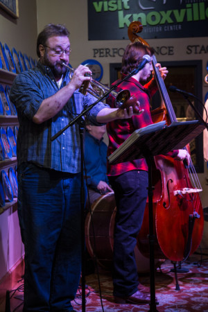 Old City Buskers, Blue Plate Special, Knoxville Visitor Center, January 2016