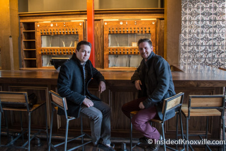 Owner Thomas Boyd and Sommelier Matt Burk, Old City Wine Bar, 108 W. Jackson Avenue, Knoxville, January 2016