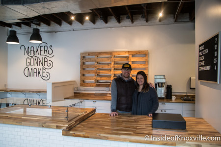 Owners Sean and Sara Alsobrooks, Makers Donuts, 804 Tyson St., Knoxville, January 2016