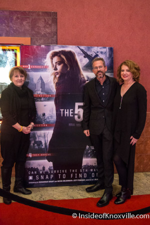 Urban Woman, Rick Yancey (author) and Sandy Yancy, The Fifth Wave Premier, Regal Cinema Downtown, Knoxville, January 2016