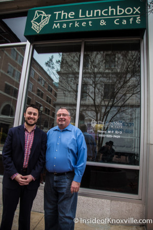 Bradford and Rex Jones, New Owners of The Lunchbox, 607 Market Street, Knoxville, February 2016