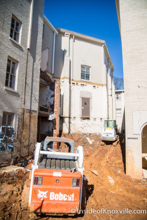 Construction at First Presbyterian Church, 620 State Street, Knoxville, February 2016