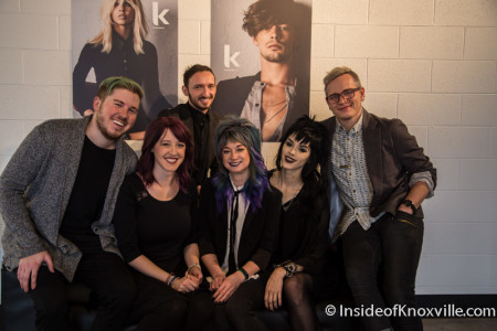 Owner Jeremy Wann, Director of Operations Katie Hopper and Staff, GEO Hair Lab, 300 W. Fifth Ave., Knoxville, February 2016