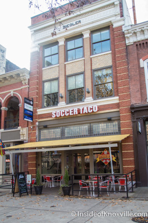 Soccer Taco, 9 Market Square, Knoxville, February 2016