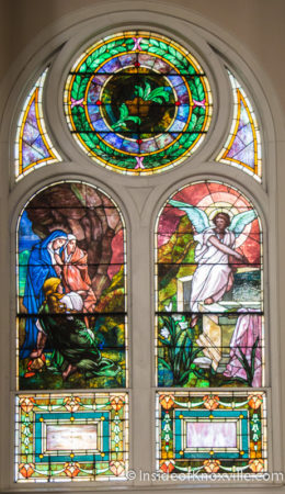 Stained Glass at First Presbyterian Church, 620 State Street, Knoxville, February 2016
