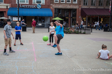 Children Playing on Market Square, Knoxville, March 2016