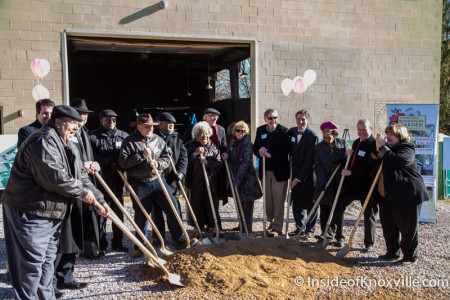 Ground Breaking for Welcome Center, Knoxville Botanical Garden and Arboretum, 2743 Wimpole Ave., Knoxville, January 2015