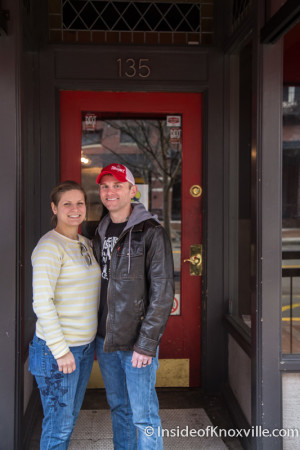 Hannah and Mike McConnell, Sugar Mama's Knox, 135 S. Gay Street, Knoxville, March 2016