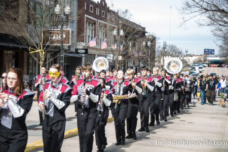 Fulton High School Band, Mardi Growl, Knoxville, March 2016