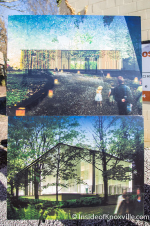 Renderings for Welcome Center, Knoxville Botanical Garden and Arboretum, 2743 Wimpole Ave., Knoxville, January 2015