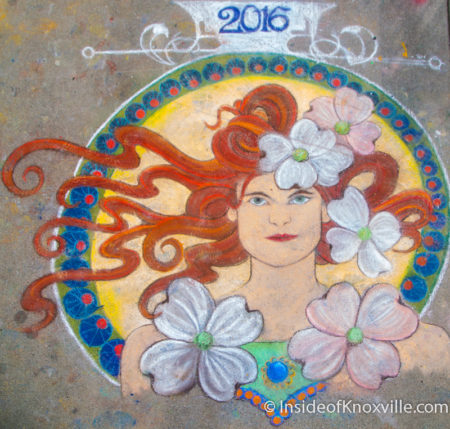 April Wireman, Dogwood Arts Chalk Walk, Knoxville, April 2016