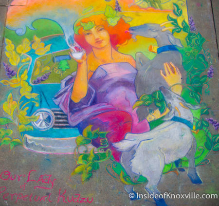 DeLena Feliciano, Lindsay Patterson, Kate Faulkner, Anne Rochelle, Dogwood Arts Chalk Walk, Knoxville, April 2016