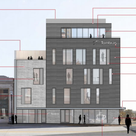 Newly Approved Design for the Tombras Building (formerly KUB Building), 620 S. Gay Street, Knoxville, April 2016