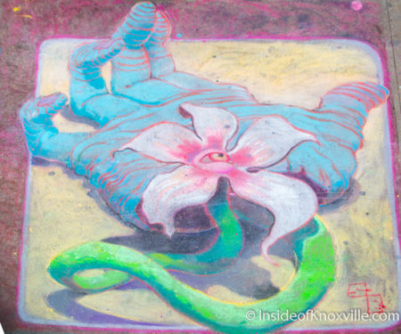 Sean Britt, Dogwood Arts Chalk Walk, Knoxville, April 2016