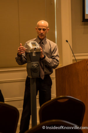 Bill Lyons Presents New Parking Meters, Knoxville, May 2016