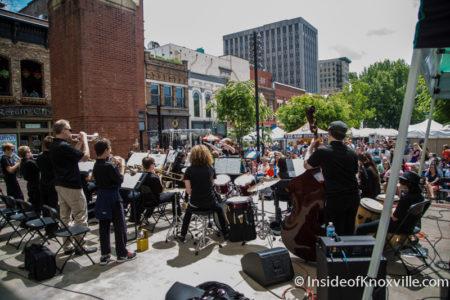 Dogwood Arts Festival on Market Square, Knoxville, April 2016